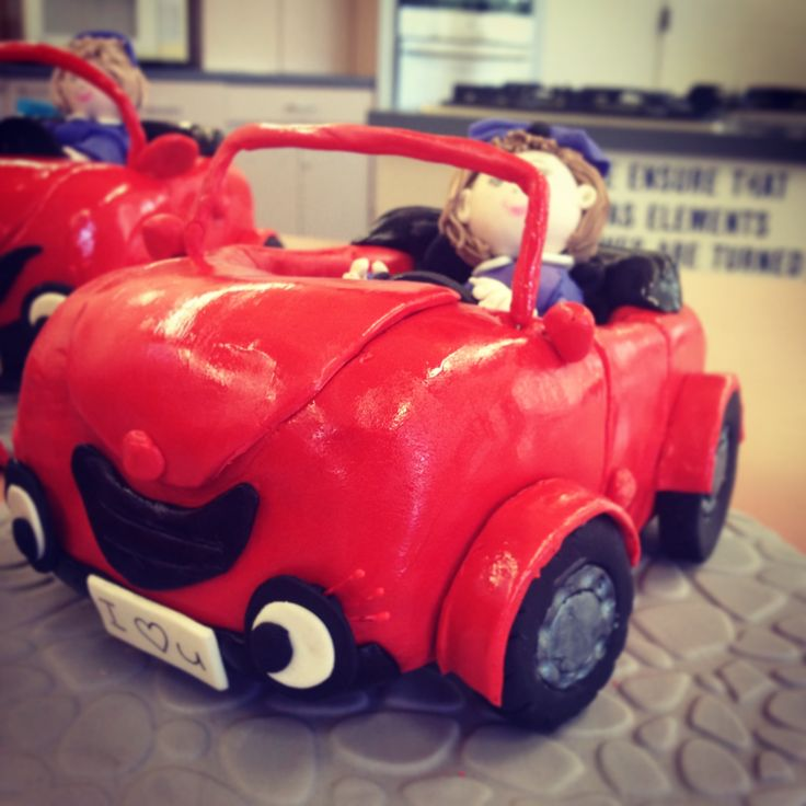 Little red car topper  #decoration#sweet