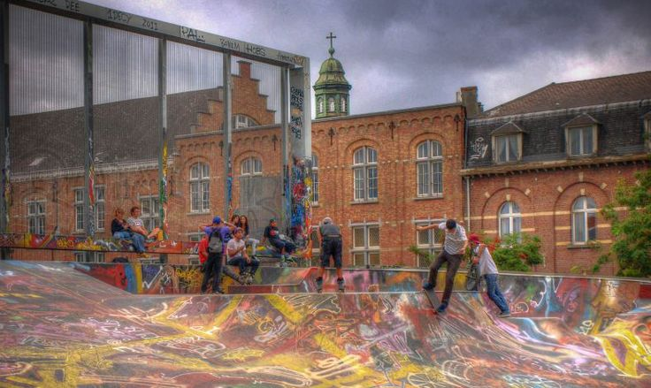 Skate park in Brussels