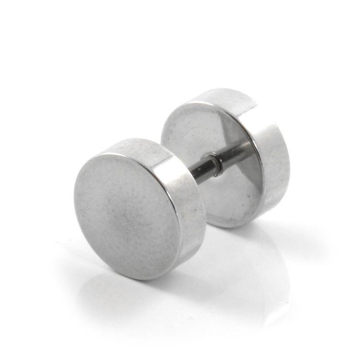 8mm Sølv Stud Ørering - 79,00kr