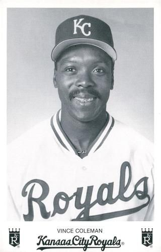 1994 Kansas City Royals Photocards #NNO Vince Coleman Front