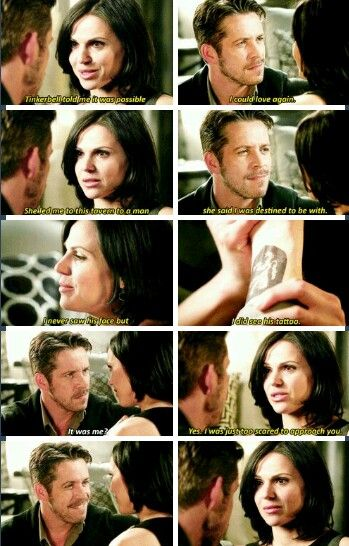 Outlaw Queen OUAT. She literally gave him her heart, and now she gave him the one secret that told her that he was her true love. She's all in. But is he?