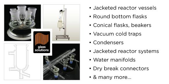 Laboratory glassware and equipment from Glass Solutions.