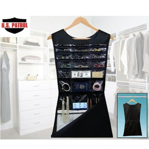 U.S Patrol Hanging Dress Safe With 21 Hidden Compartments   Keep Valuables  Cleverly Hidden In Your