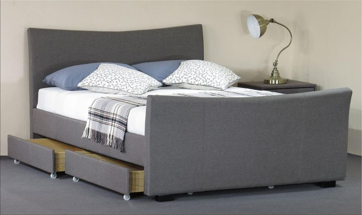 This is the comfortable Turin 5ft King Size Grey Fabric Designer Bed and Mattress Sets    https://www.modernfurnituredirect.co.uk/turin-5ft-double-grey-bed-and-mattress-set