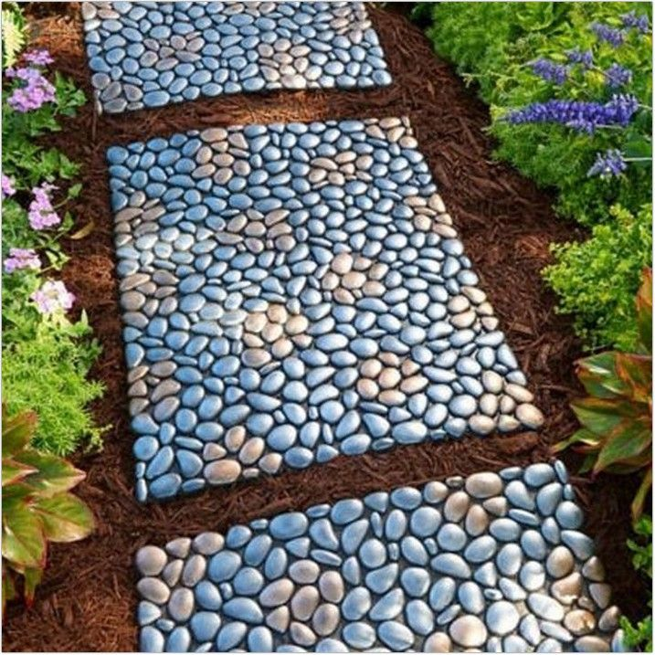 40 Garden Design Yard For Front And Rear Stepping Stone Pathway Garden Stepping Stones Backyard Landscaping
