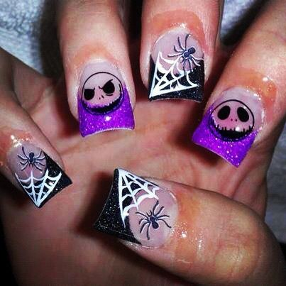 Nightmare before Christmas nails, by uniquely nailed in Midvale, UT