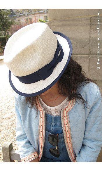 Stetson chapeau blanc femme Murray #stetson #chapeau #paille #blanc #ruban #bleu #blue #white #hat #raffia #pyrus #spitfire #charlottesometime #sessun #sessùn #look #silhouette #shooting #fashion #ss15 #summer #été