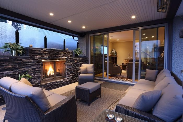 Great outdoor Patio complete with fireplace and heaters.