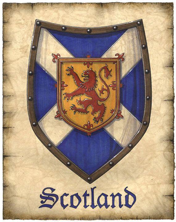 scotland crest artwork 8 x 10 scottish flag scotland art prints scotland william wallace. Black Bedroom Furniture Sets. Home Design Ideas