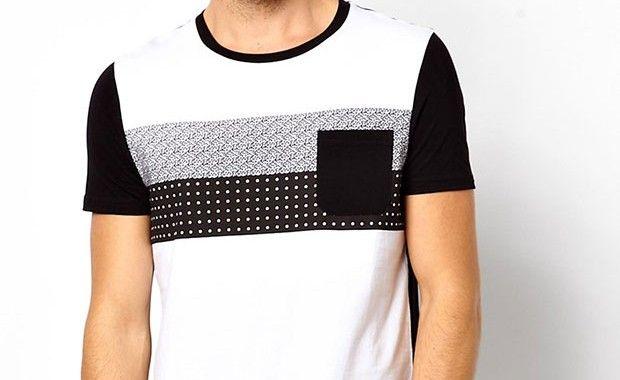 t-shirt homme à poche avec motif #tshirt #homme #asos