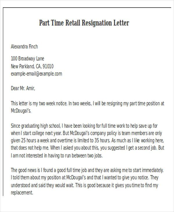 Retail Letter Of Resignation from i.pinimg.com