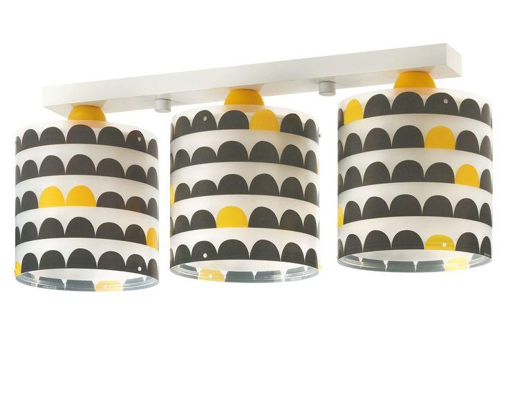 Παιδικό Φωτιστικό Wonder οροφής τρίφωτο με διπλό τοίχωμα σε ράγα