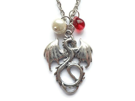 Dragon Necklace Dragon Pendant  Dragon Charm by HillyBCreations