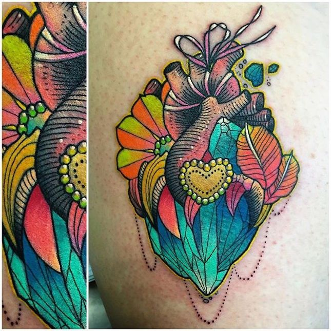 This Tattoo Artist's Neon Designs Will Brighten Up Your Day via Brit + Co