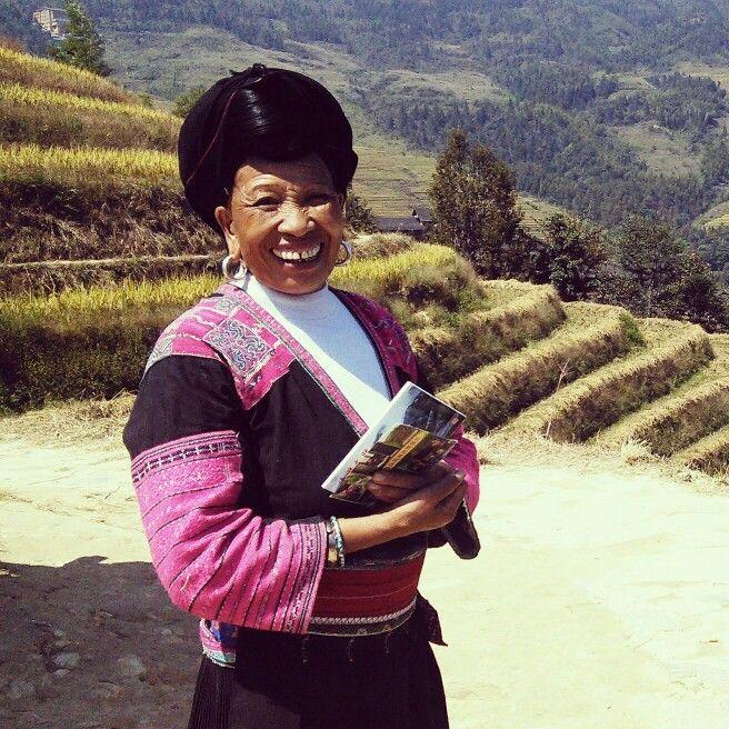 Yao lady, Longji, China.