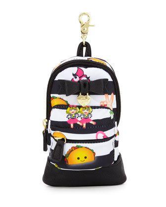 Betsey Johnson Emoji Backpack Pencil Case, Multi