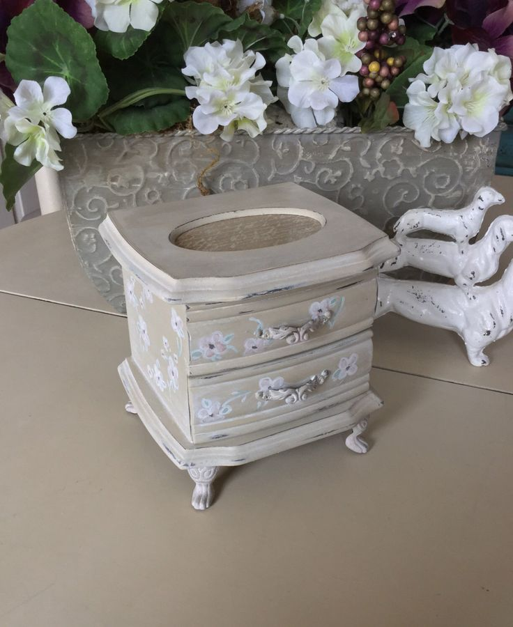 Shabby Chic Jewelry Box // Vintage Trinket Box // Painted Wood Jewelry Box // Christening Gift Box by ByeByBirdieDesigns on Etsy https://www.etsy.com/listing/503484629/shabby-chic-jewelry-box-vintage-trinket