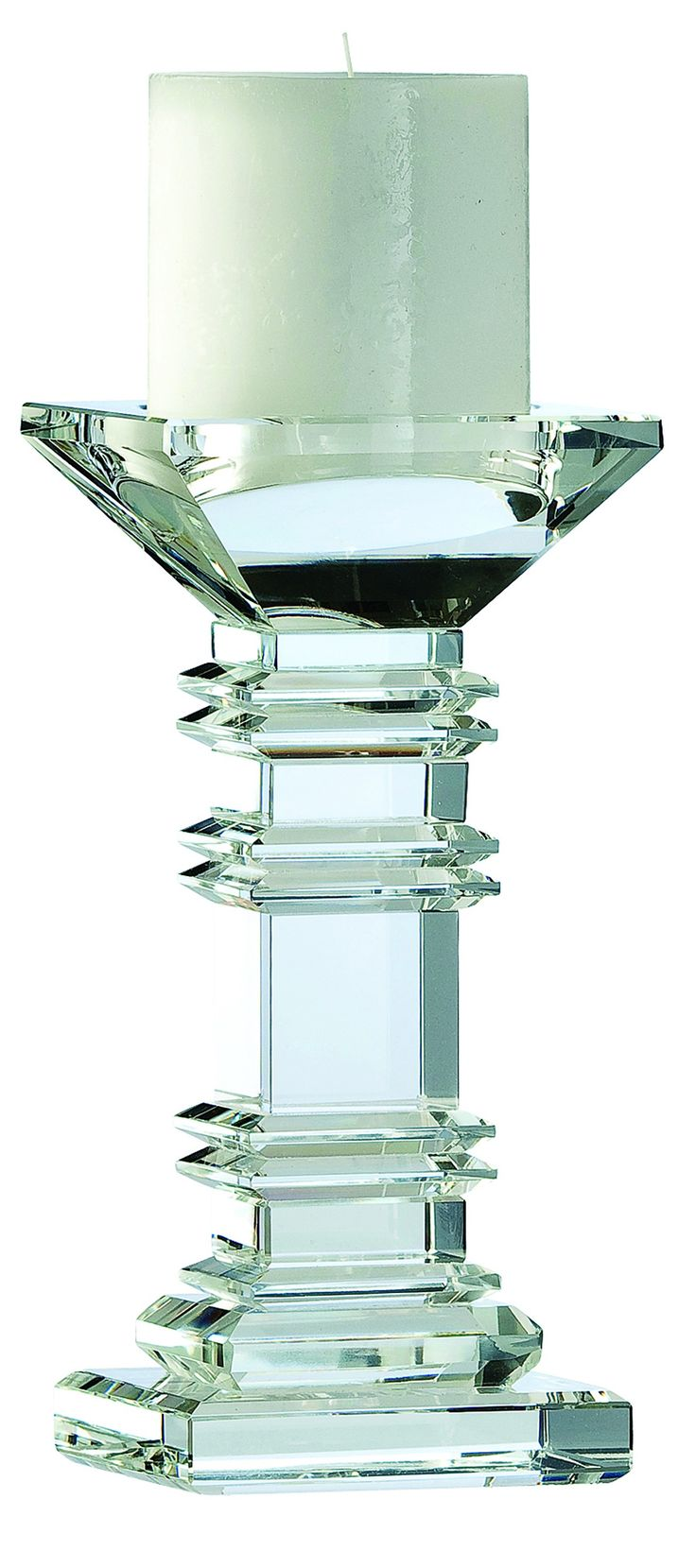 """Majestic 8"""" Candleholder - Galway Crystal €49.95"""