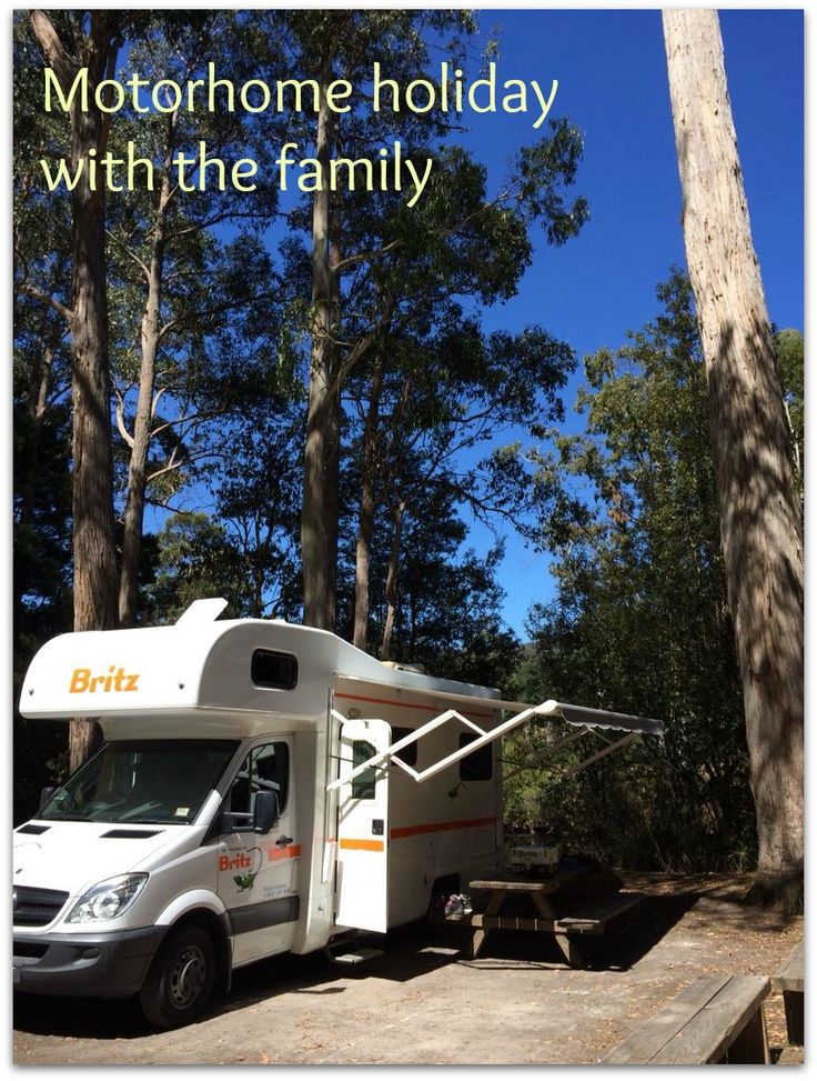 Motorhome Campervan camping holiday travel with kids Tasmania