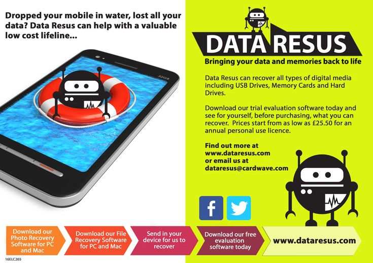 If your phone refuses to switch on after being dropped in water and you haven't backed up your data in the cloud or elsewhere, does this mean you have to accept all your data is gone forever from water damage? Not necessarily. You may be able to take steps to get your phone working again, and you may also be able to access all those files you feared were lost forever. Find out how here: http://www.dataresus.com/Data-Resus-throws-a-lifeline-to-water-damaged-phones_b_10.html #datarecovery