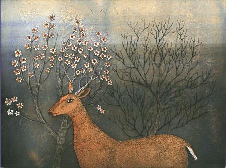 Kirsi Neuvonen - Nature Document: Spring Mist (2010) line etching, aquatint…