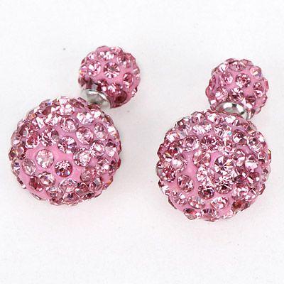 Lovely pink double pearl earrings! https://www.facebook.com/pages/Collares-y-Accesorios-de-Moda-Yen-En-Tijuana/865787360105631?ref=aymt_homepage_panel
