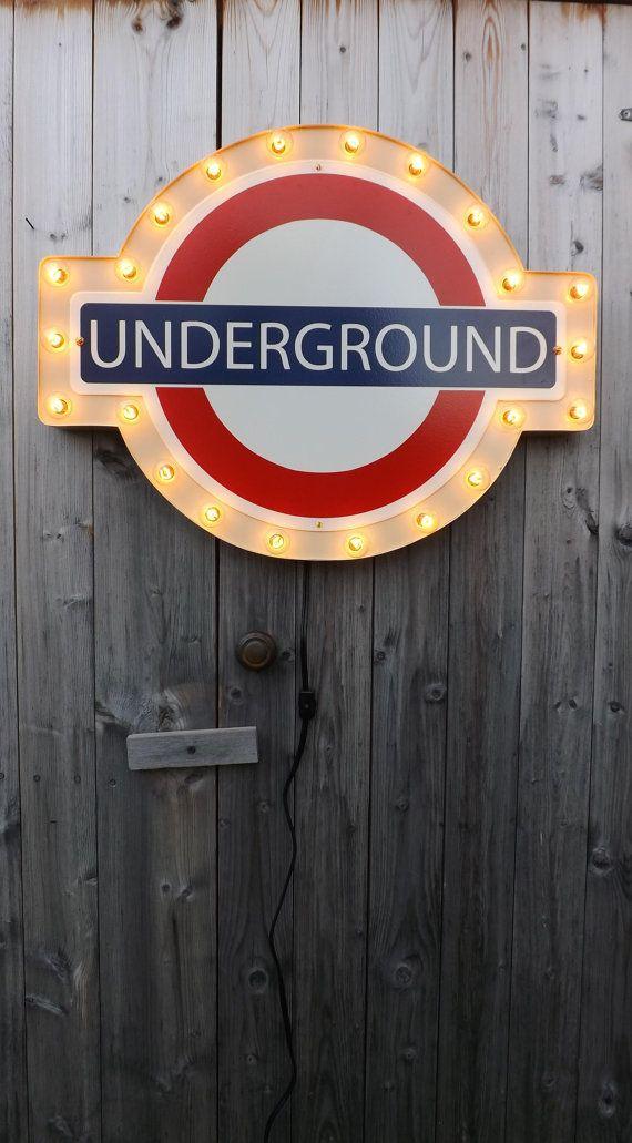 Underground sign London subway marquee by HitandMissLimited, $240.00