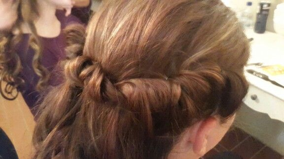 Carmen's wedding hair