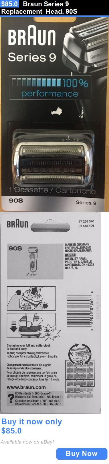 Shaver Parts and Accessories: Braun Series 9 Replacement Head. 90S BUY IT NOW ONLY: $85.0