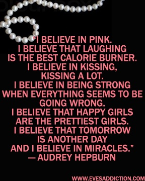 Celebrating Audrey Hepburn's Birthday this weekend with quotes and pearls!
