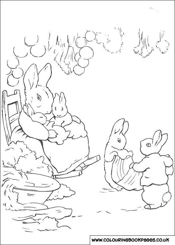 Peter Rabbit 21Free Colouring Pictures
