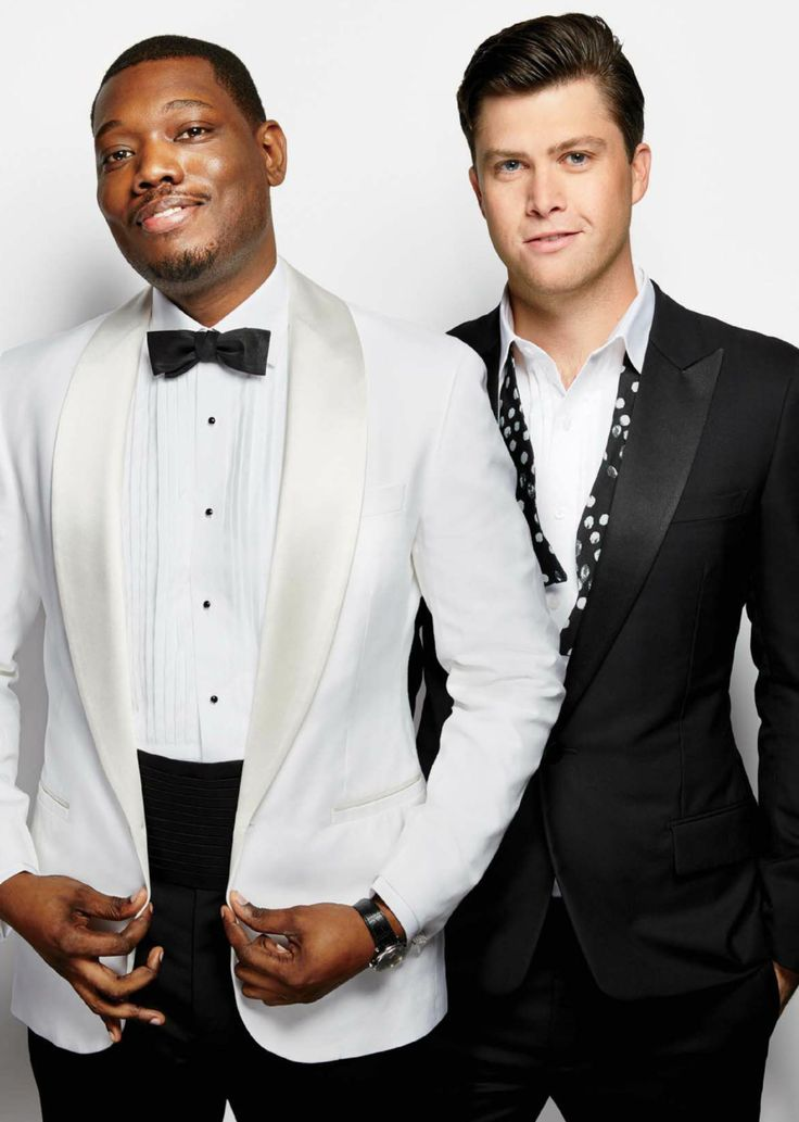 Colin Jost and Michael Che in Glamour US March 2017.