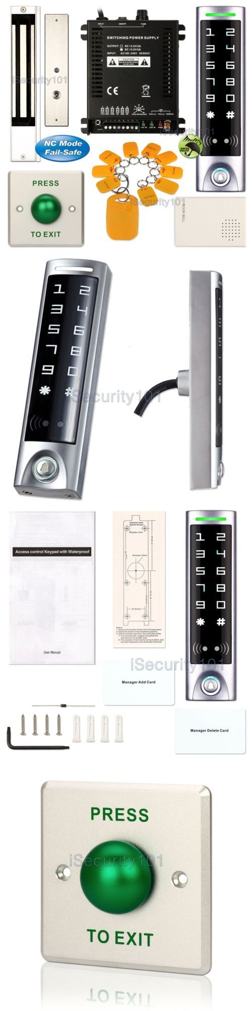 Intercoms and Access Controls: Diy Access Control Rfid Kit + Electric Magnetic Door Lock Nc Fail Safe BUY IT NOW ONLY: $169.99