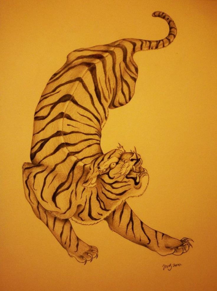 japanese tiger design | Tattoo | Pinterest
