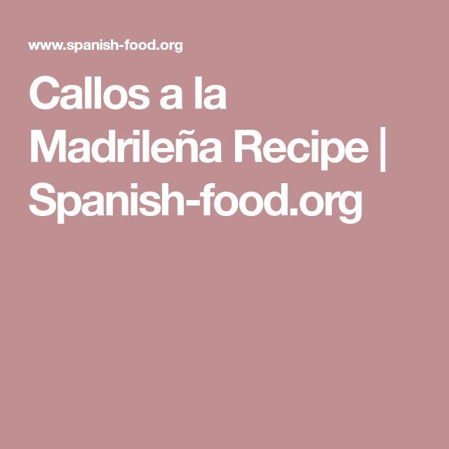 Callos a la Madrileña Recipe   Spanish-food.org