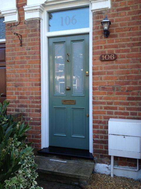 Lovely Victorian front door with vintage brass door furniture