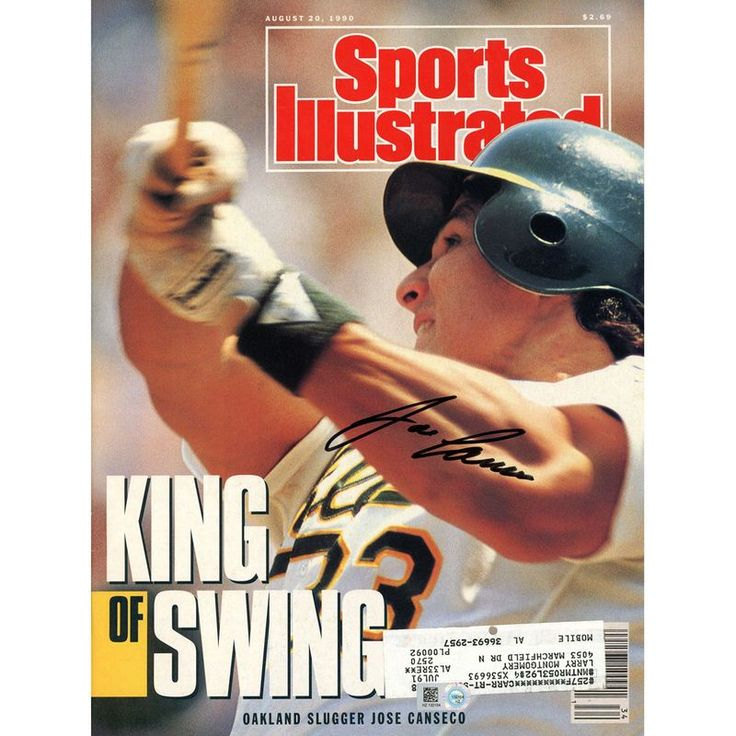 Jose Canseco Oakland Athletics Fanatics Authentic Autographed King of Swing Sports Illustrated Magazine