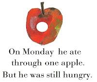 Hungry little caterpillar fruit