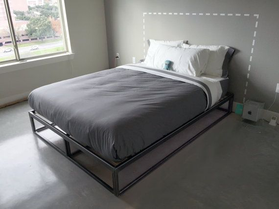 Flatform is a modern steel bed frame with clean lines and a modern feel. It is designed to accommodate standard size underbed storage bins/totes or