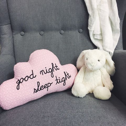 Goodnight, Sleep Tight  - Cloud Cushion - Pink