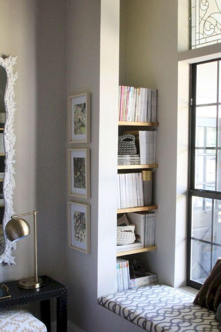 Library Room Ideas For Small Spaces: 65+ Clever Storage Ideas For Small Apartment Spaces (63