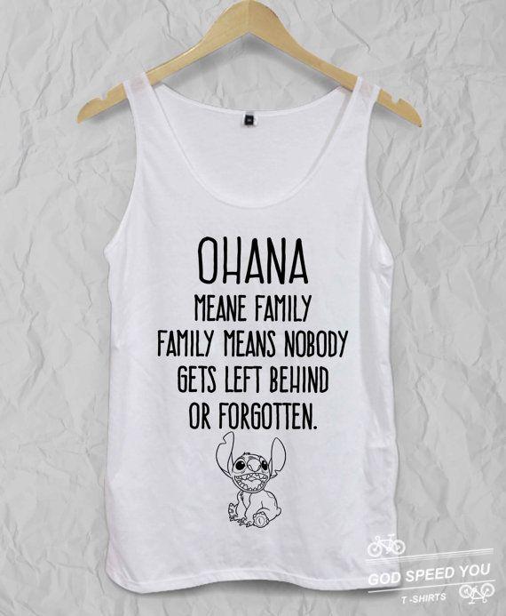OHANA Lilo and stitch quoteDisney T shirt by GodspeedYouShop