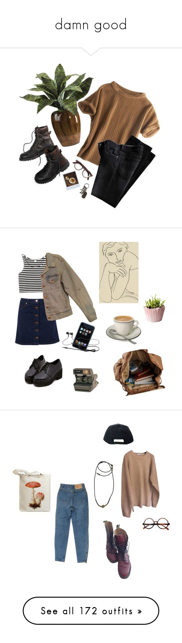 """""""damn good"""" by origami-kitten ❤ liked on Polyvore featuring Calypso St. Barth, Cutler and Gross, American Eagle Outfitters, Polaroid, AllSaints, vintage, Miss Selfridge, Monki, American Apparel and art"""