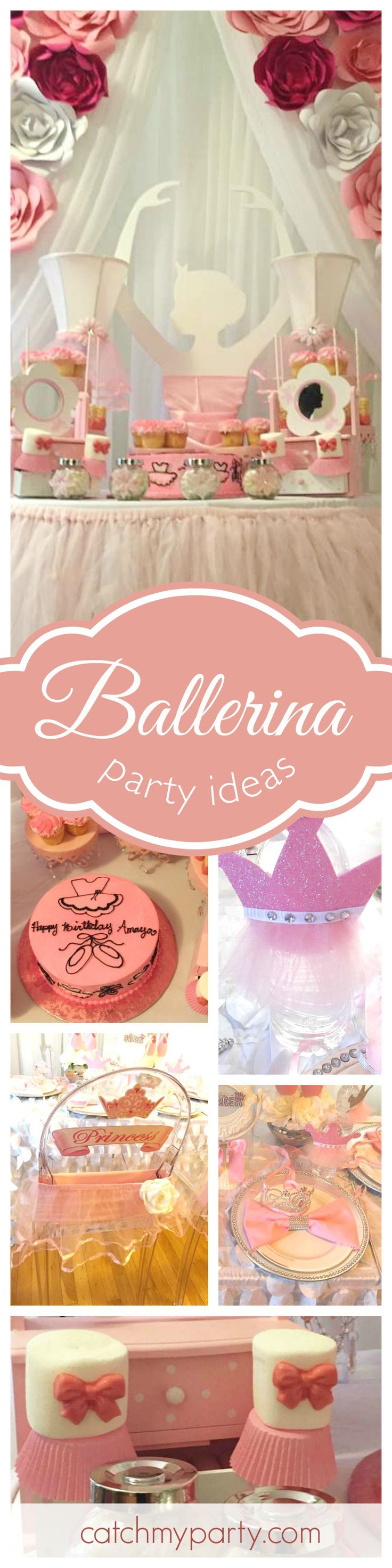 If you've a little ballerina at home then you won't want to miss this fabulous birthday party! The ballerina dessert table is amazing! See more party ideas and share yours at CatchMyParty.com