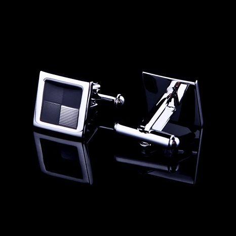 Luxusné manžetové gombíky v štvorcovom elegantnom dizajne (3)
