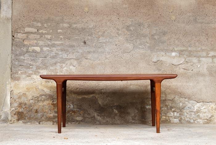 TABLE À RALLONGES VINTAGE SCANDINAVE EN TECK - ANNÉES 60 - Arne Hovmand Olsen