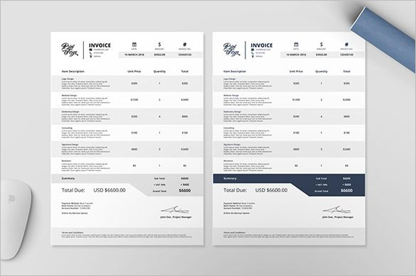 Professional Billing Invoice Template Example , Invoice Template for Mac Online , Mac is a system made by Apple which is considered to be a bit exclusive so that even the moment when a user is just trying to find invoice template fo...