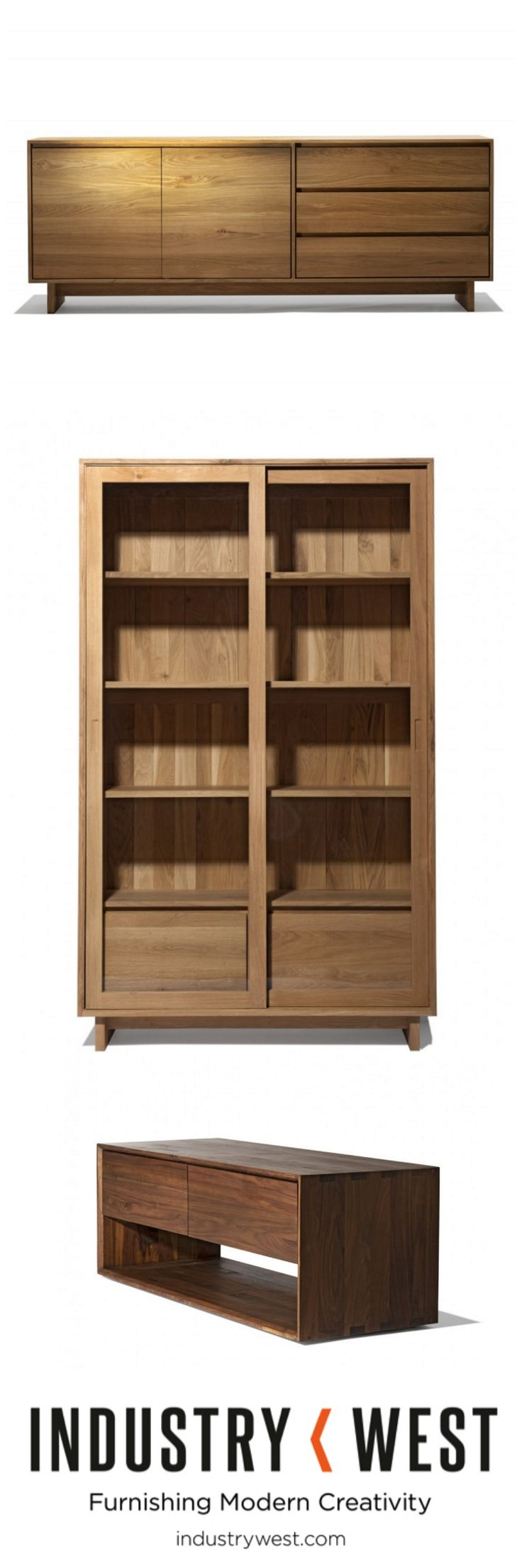 Sideboards, hutches, consoles and other storage options from Industry West.