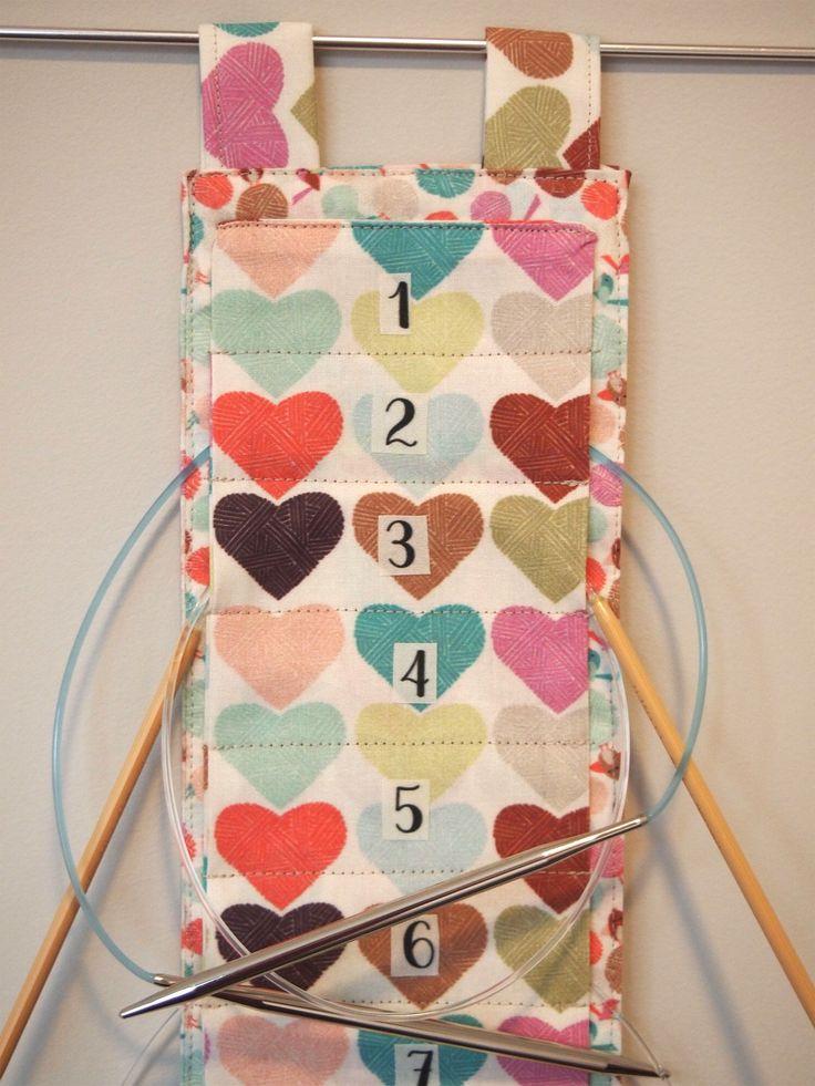 Items Similar To Customizable Straight Knitting Needle Case Needle Holder