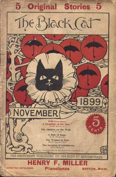 November 1899 cover of The Black Cat Magazine by Nelly Littlehale Umbstaetter